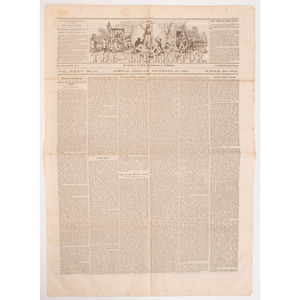 The Liberator, Final Issue Dated December 29, 1865 Featuring Garrison's