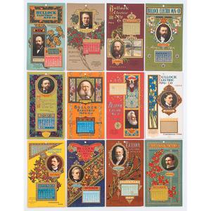 Strobridge Calendar Cards, Bullock Electric Mfg. Co., Complete Run for 1904