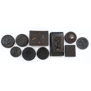 Miscellaneous Thermoplastic Boxes, Cases, and More, Including Circular Playing Card Case Containing Card Deck