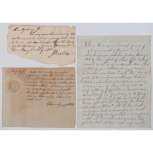 Revolutionary War Soldier Ephraim Douglass ADS, Plus Signatures of Virginia Governors Wood and Preston