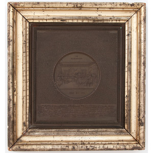 1859 Declaration of Independence Copper Plaque by Samuel H. Black