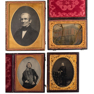 Half Plate and Quarter Plate Daguerreotypes and Ambrotypes, Lot of 4