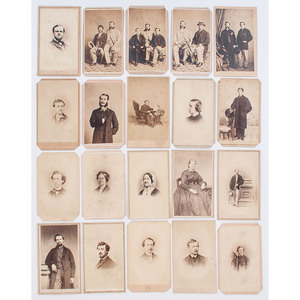 CDVs of Identified Philadelphians, Incl. Civil War Veterans and John Gallagher, Consul-General to Rio de Janiero