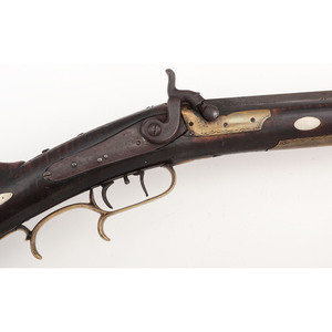 Half Stock Percussion Rifle by C. Flowers