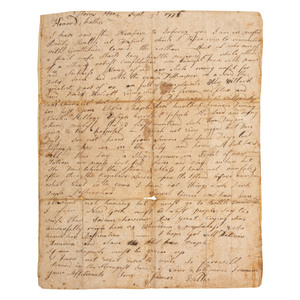 Revolutionary War Soldier's Letter, Horn's Hook 1776, British Occupation of New York City