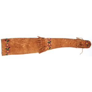 Ojibwe Beaded Rifle Case, From the Stanley B. Slocum Collection, Minnesota