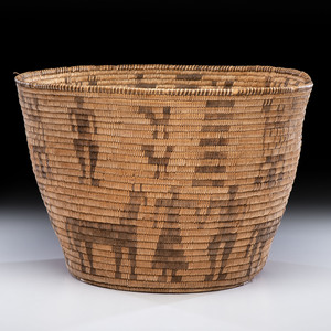 Akimel O'odham Basketry Olla, with Figures