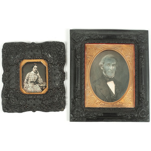 Half Plate Daguerreotype Portrait of an Identified Gentleman Housed in Very Very Rare Union Wall Frame, Plus