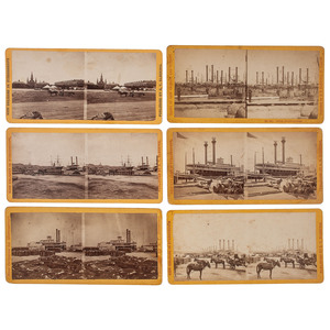New Orleans Levee, Fine Group of 11 Stereoviews by S.T. Blessing