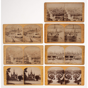 Charles Seaver, Stereoviews of the New Orleans Levee and City, Ca 1870s