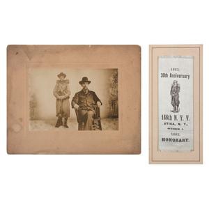 Musician Frederick White, 146th New York Vols, Silver Gelatin Print with GAR Reunion Ribbon