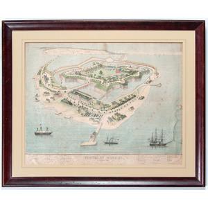 Fortress Monroe, September 1862, Lithograph