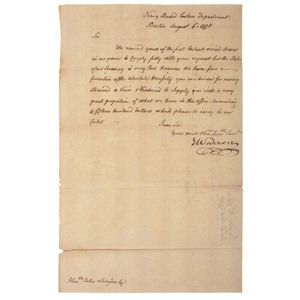 James Warren LS to John Langdon Regarding Financial Matters, August 1778