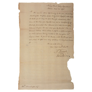 James Warren LS to John Langdon Regarding Naval Affairs, October 1778