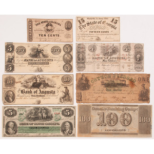 Confederate Currency and Additional Miscellaneous 19th Century Notes
