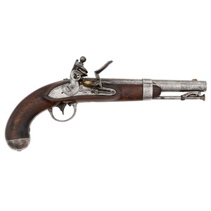 Waters Contract U.S. Model 1836 Flintlock Pistol