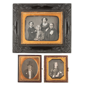 Half Plate Daguerreotype Portrait of a Charming Family Housed in Very Very Rare Wall Frame, Plus