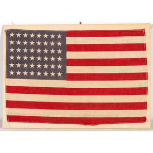 Two 48-Star Parade Flags Celebrating End of WWI