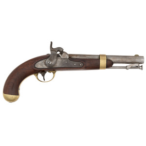 H. Aston Contract U.S. Model 1842 Percussion Pistol