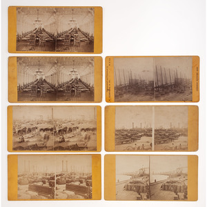 Theodore Lilienthal, Group of New Orleans Steamboat and Levee Stereoviews, Ca 1870s