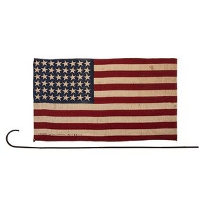 Two WWI-Era Inscribed 48-Star Parade Flags