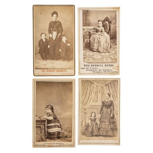 CDVs and Cabinet Cards of Little People, Large Collection Incl. Tom Thumb and Lavinia Warren, General Grant, Jr., and Other Performers