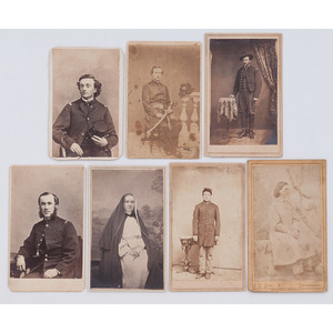 Civil War CDVs of Medical Cadets, Nurses, and Assistant Surgeon George Ribble, 11th NJ Volunteers