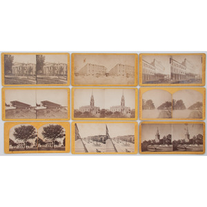 [STEREOVIEWS]. BLESSING, S.T., photographer. A group of 25 stereoviews of New Orleans. [Ca 1870s].
