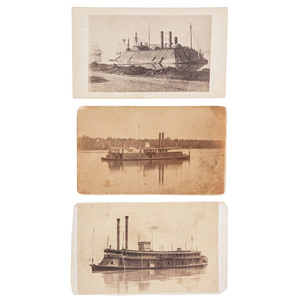 CDVs of Brown Water Navy Gunboats, USS Essex, General Thomas, and Argosy