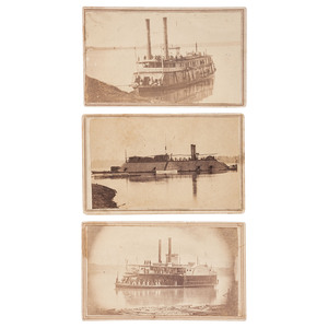 CDVs of Brown Water Navy Gunboats, USS Essex, Huntress, and Queen City
