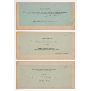 Three Yellow-Mount Stereoviews of Warships on James River