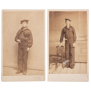 Two CDVs of Unidentified Sailors