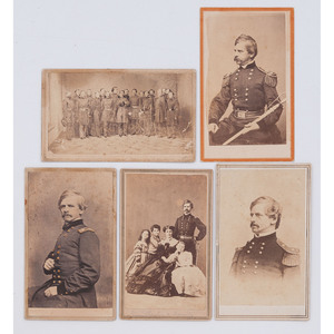Union General Nathaniel Banks CDVs, Incl. Staff Portrait, Most Credited to New Orleans Photographers