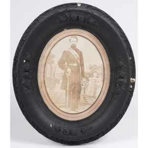 Oval Albumen Photograph of Civil War Soldier