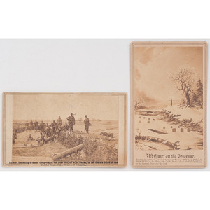 Brady Album Gallery CDV, Fortifications on the Heights of Centreville, Plus CDV After Painting by George Douglas Brewerton