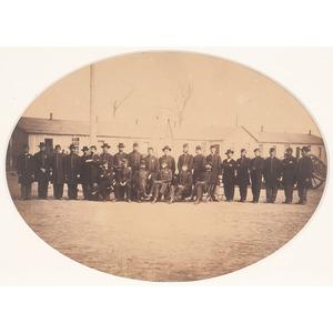 Albumen Photograph of Unidentified Regimental Officers