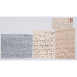Lot of 3 Civil War Confederate POW Letters