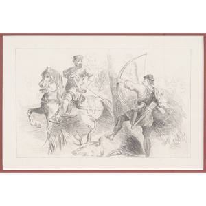 Original Pencil Drawing by West Point Cadet Charles Green Sawtelle, Presented to JEB Stuart, 1853