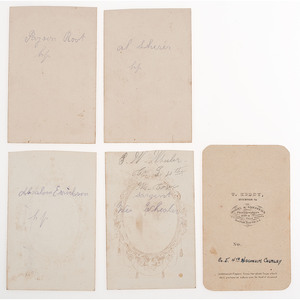 Wisconsin 4th Cavalry CDVs, Incl. Colonel Halbert E. Paine, Regimental Color Bearers, and More