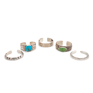 (Denver) Navajo and Southwestern-Style Silver Cuff Bracelets