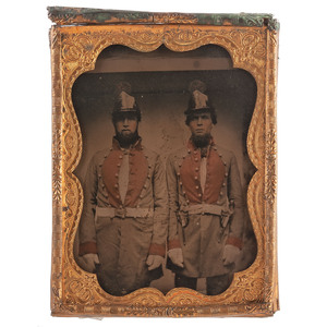 Quarter Plate Ambrotype of Militiamen