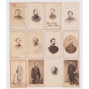 Twelve CDVs of Union Officers, Most Identified, By New Orleans Photographers Incl. Washburn, Jacobs, Guay & Co., Prince, Lilienthal, and More
