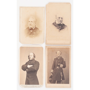 Civil War Naval Subjects, CDVs Incl. Farragut and John Ericsson, Inventor of USS Monitor