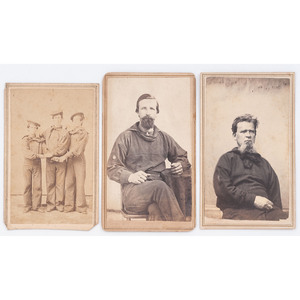 CDV of Paddle Boys from the USS Bienville, Plus Additional Naval Subjects by Jacobs and Lytle