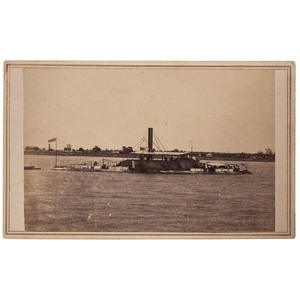 CDV of Confederate Ironclad Ram Tennessee by McPherson & Oliver