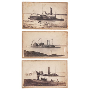 CDVs of Mississippi River Squadron Vessels, USS Choctaw, Lafayette, and Avenger