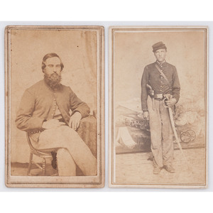 Illinois Soldiers in Louisiana and Texas, Incl. Double-Armed View of William Ulrich, 2nd IL Cavalry by Bogel & Sheppers