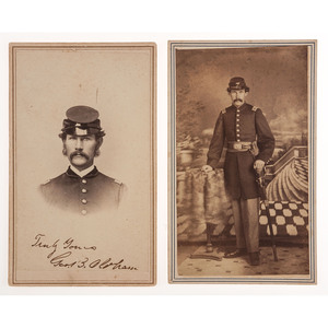 Massachusetts 38th Infantry CDVs, Incl. Two Views of Taylor Rundlet, WIA Port Hudson