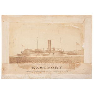 USS Eastport, Albumen Photograph of Brown Water Navy Ironclad Gunboat