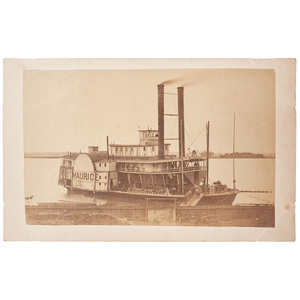 Steamer St. Maurice CDV, Plus Civil War-Date Correspondence Referencing the Vessel
